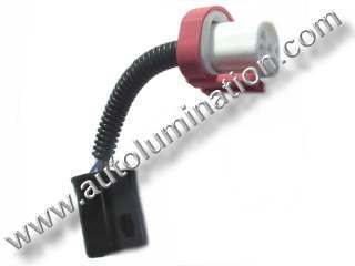 9004 P29t HB1 Ceramic Male to Female  Headlight Socket Pigtail Connector