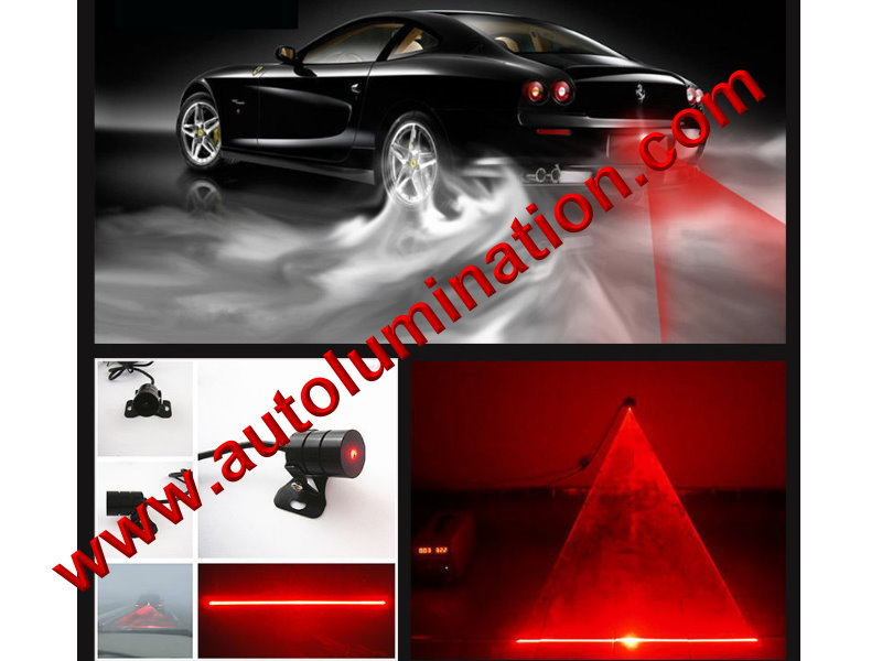 Universal Braker Car Alarm Laser Fog Light Rear Anti-Collision Taillight Warning Lamp