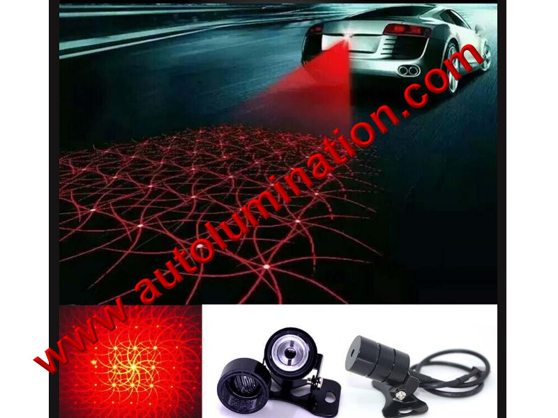 Universal Braker Car Alarm Laser Fog Light Rear Anti-Collision Taillight Warning Lamp Patterned