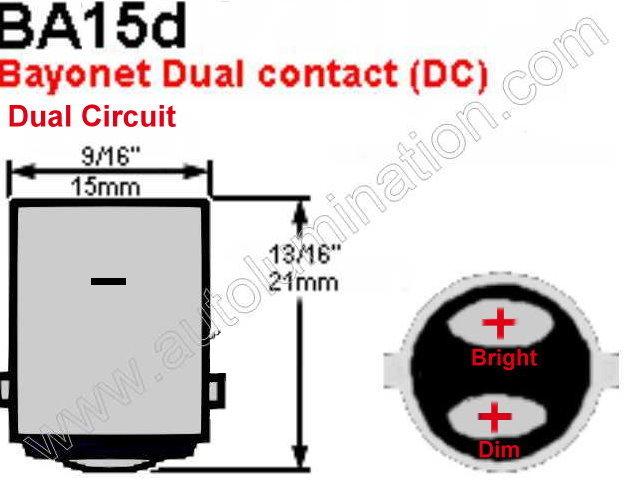 1188 6 volt RP11 ba15d 34 24 Watt Headlight Bulb