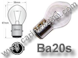Headlight Ba20s 12227 7309 A7278 12 volt 60 watt Clear Replacement Light Bulb Brand New DC P20s