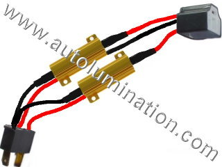 H4 9003 P43t Ceramic Male to Female  Headlight Socket Pigtail Connector Canbus Warning Cancellor Cancellation Harness