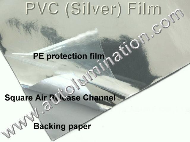 Vinyl 3D 3m OVC Chrome Silver Flexible Film