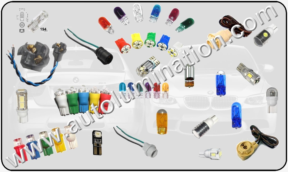 Led Bulbs 194 = W5W W3W 147 152 158 159 161 168 184 192 193 259 280 285 447 464 501 555 558 585 655 656 657 1250 1251 1252 2450 2652 2821 2921 2825 PC 175 2886X
