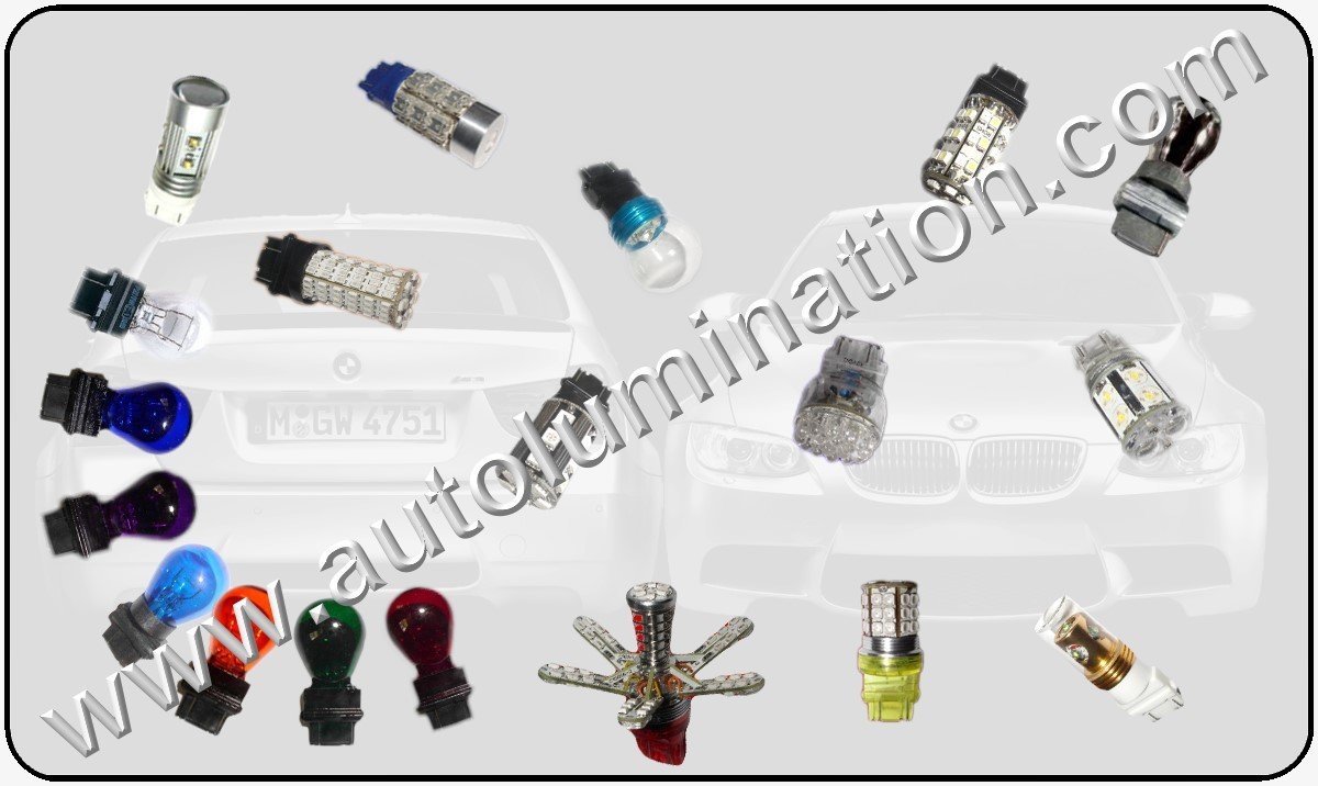 Tail, Brake, Turn Signal & Reverse (Back-up) Bulbs  Led Glass Filament 3156 3456 4156 3157 3047 3057 3155 3156 3157 3157LL 3357 3454 3457 3757 4057 4114 4114LL 4114K 4157 4157LL