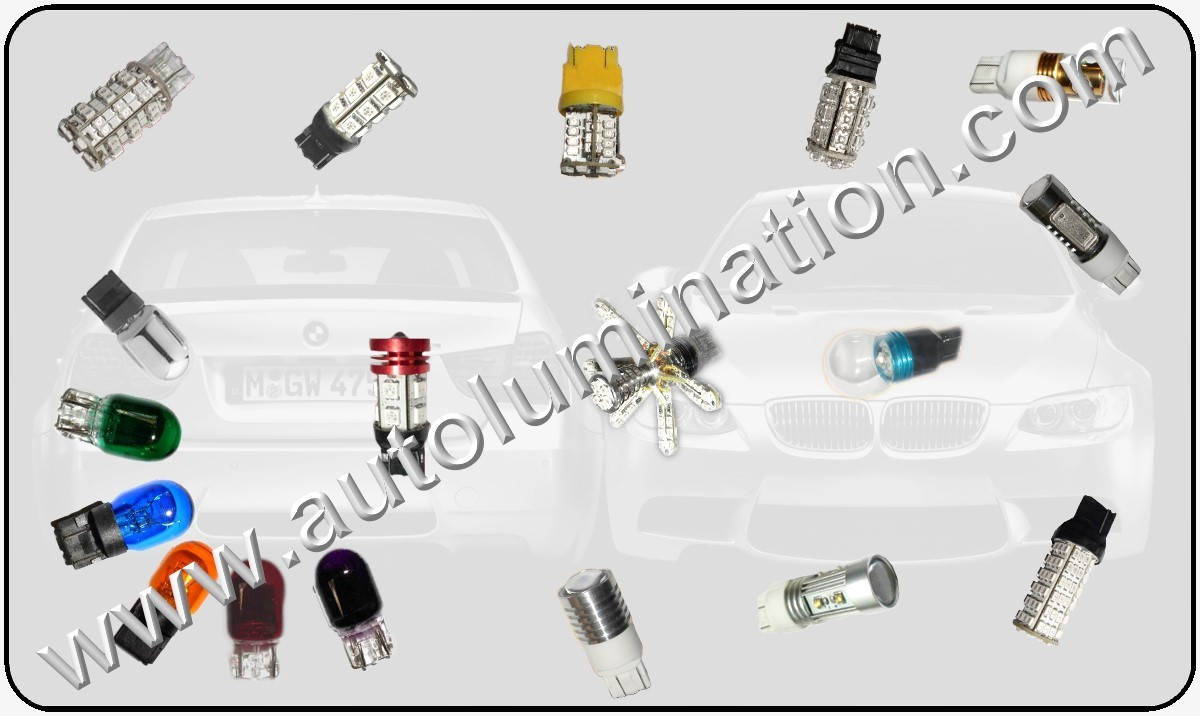 Tail, Brake, Turn Signal & Reverse (Back-up) Bulbs  Led Glass Filament 7443 (Dual Circuit) 7443 7444 W21 5W 7440 (Single Circuit) W21W WY21W 7441