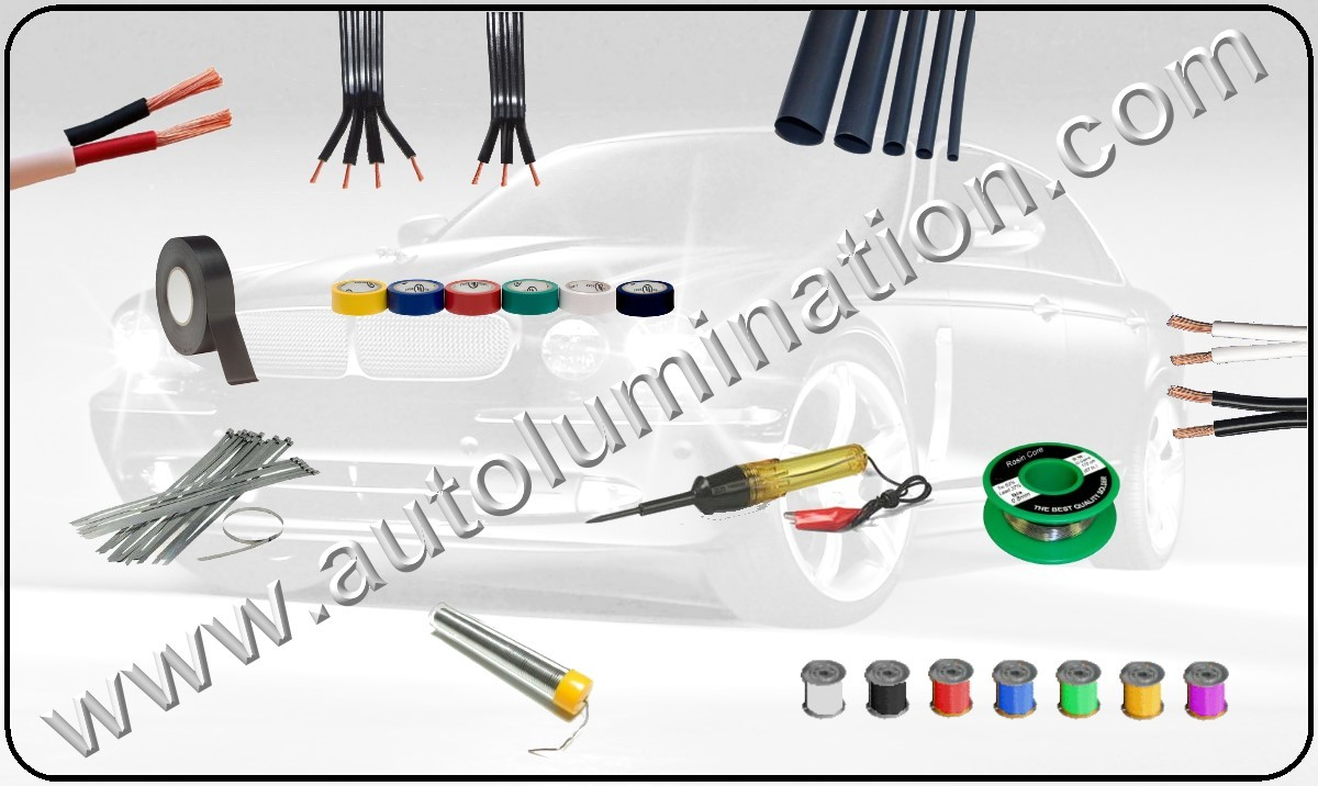 Automotive Primary Wire, Shrink Tubing, Car Wiring, Wiring Harnesses for Cars, 16 guage copper stranded wire