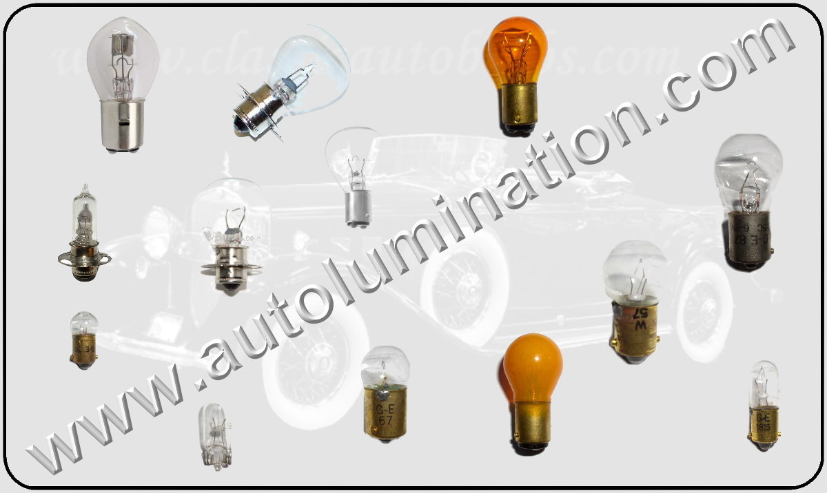 Replacement Light Bulbs Flashers and Lamps for Vintage Antique 6 Volt Cars Automobiles, Trucks Motorcycles