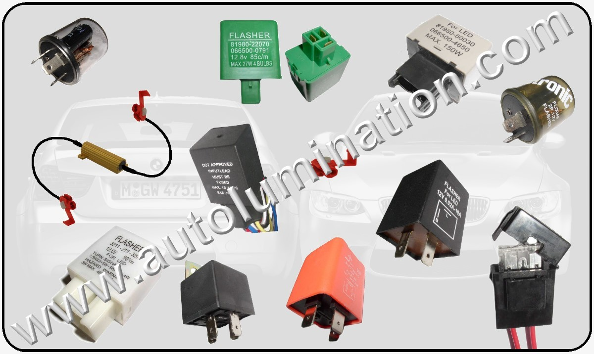 Led Flashers and Load Equalizer Turn Signal Fixes EP27 6 Ohm 3 Ohm EFL-3 EFL-2 EP34 EP35 EP 36 Relays