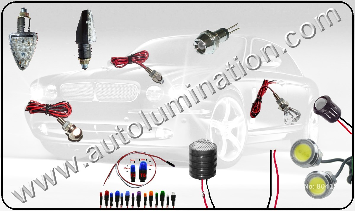 LED Indicator lights, Indicator led light bulbs, Led Screw Lights, Led Turn Signal Indicator Lights for Motorcycles