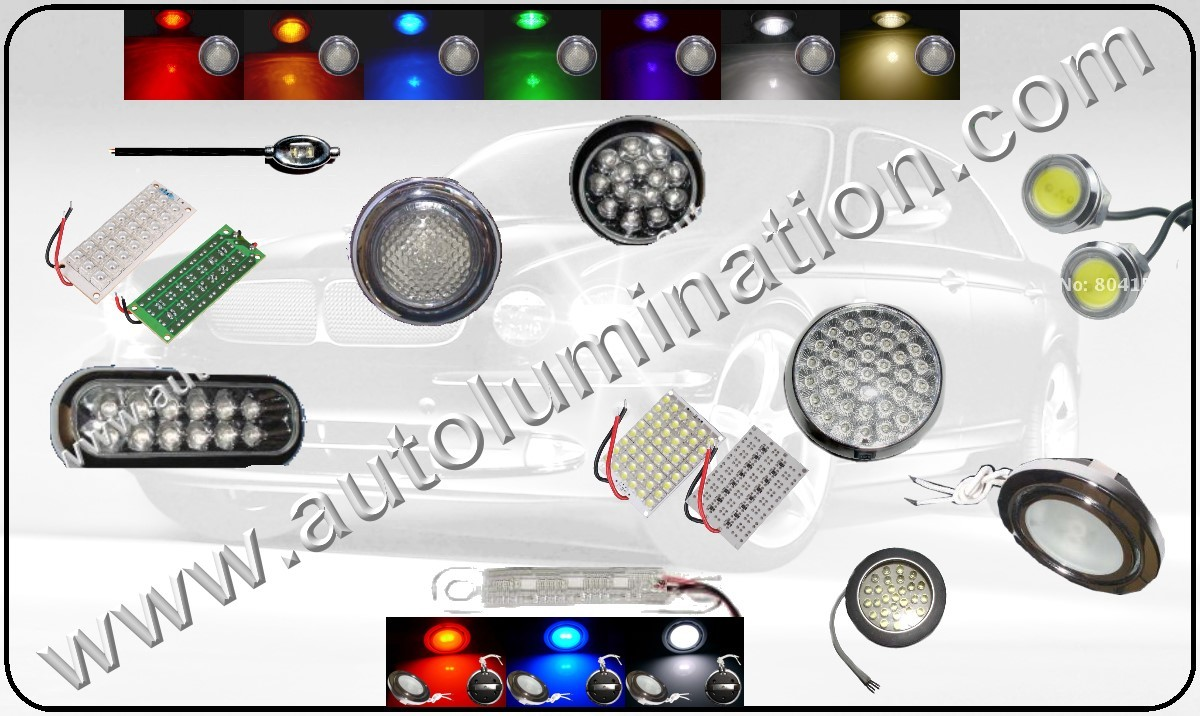 Led Light Fixtures and Strobe Lights for Automobiles, Cars, Trucks Motorcycles and RV's