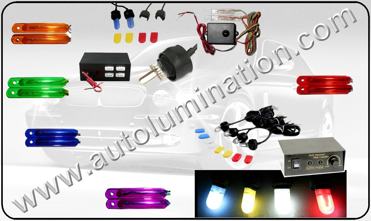 LED Strips, LED strobe lights, Flashing Strobe lights, Colored Flashing Lights, for cars, automobiles, trucks, motorcycles