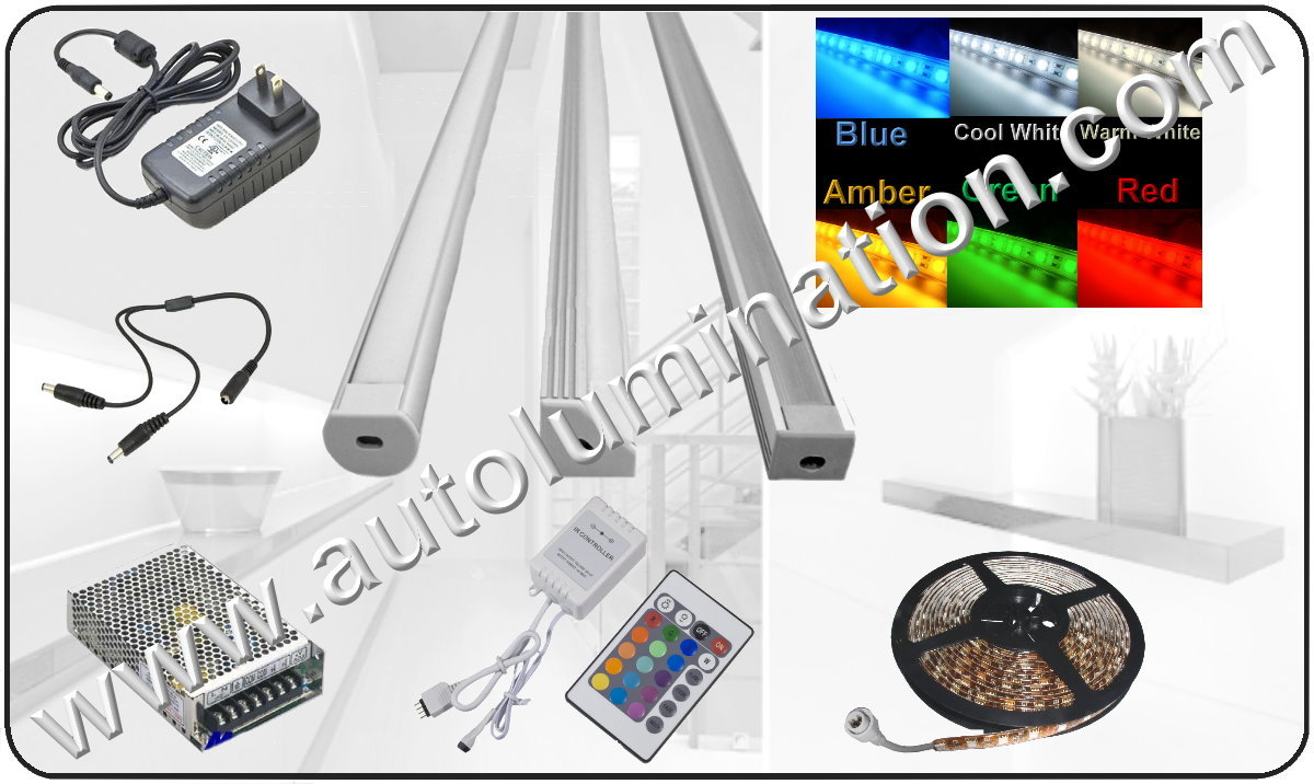LED Strips, LED Bars, Led strings, Power Supples, Cabinet Under Counter Controls