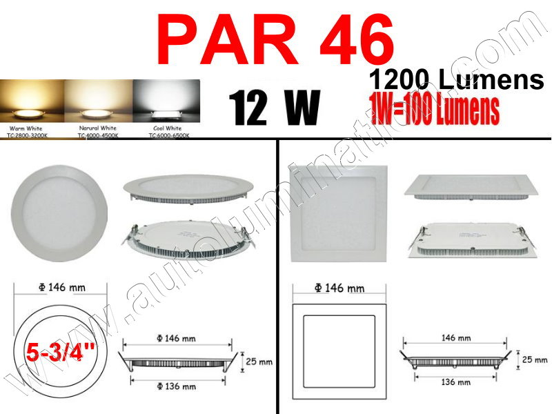Cree Recessed Led Ceiling Panel Down Lights PAR 46