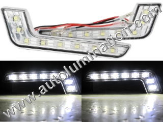 8 Led Led DRL Daytime Running Light L Shape