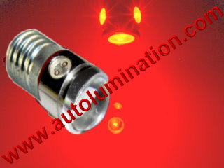 1449 E10 Screw Base Bulb 52, 258, 428, 432, 1446, 1447 3 Watt Cree Led Side Marker License Plate Bulb
