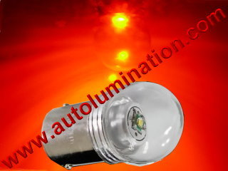 Ba15s g18.5 81 Led 5 Watt Cree Packard Cadillac 6 Volt + Positive Ground Red Tail Light Bulb