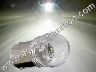 Ba15s g18.5 81 Led 5 Watt Cree Packard Cadillac 6 Volt + Positive Ground Tail Light Bulb