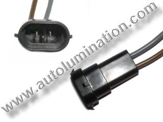 800 Series Right Angle 862 881 886 888 889 894 896 898 899 H27 / W2 Male Socket Pigtail Connector Wire