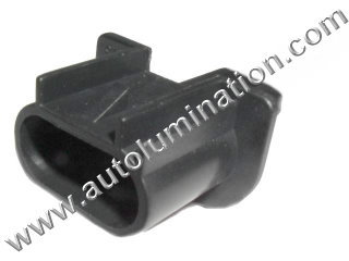 H13 9008 Male Headlight Socket Connector Pigtail