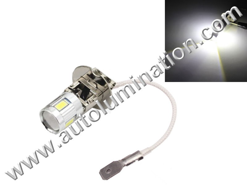 H3 6 Volt Pk22s Cree Led Headlight Bulb