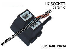 H7 PX26d Headlight Ceramic Socket Pigtail Connector Harness Wiring