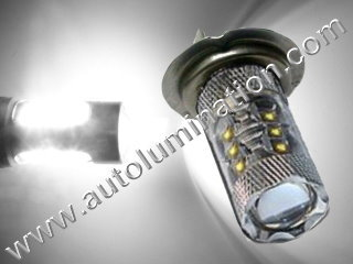 H7 Px26d 6000K Super White 80 Watt Cree LED High Powered Headlight Bulb