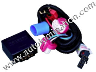 9007 Halogen HeadlightIntensifier brightener Brighter Relay Harness
