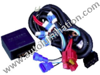 800 Series Right Angle 862 881 886 888 889 894 896 898 899 H27 / W2 Halogen HeadlightIntensifier brightener Brighter Relay Harness
