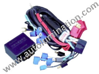 H1 H3 Halogen HeadlightIntensifier brightener Brighter Relay Harness