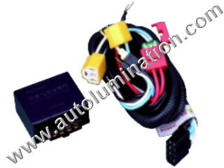 H4 Halogen HeadlightIntensifier brightener Brighter Relay Harness