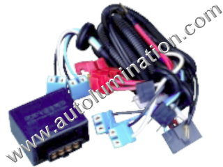 H7 Halogen HeadlightIntensifier brightener Brighter Relay Harness