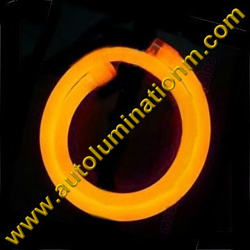 Flexible Neon LED EL Wire Tubing Amber