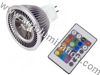 MR16 Led Color Changing Light With Remote Control