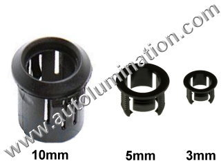 3mm 5mm 10mm Plastic Led Holder Bezel Clip Ring