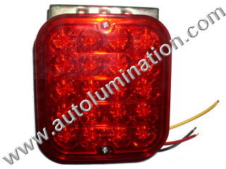 Truck Trailer RV Tail Brake Red Led Light