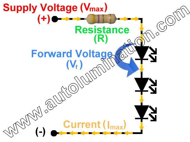 Series Led Resistance Resistor Circuit Schematic Calculator