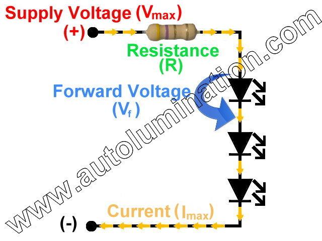 Series Led Resistance Resistor Circuit Schematic Calculator