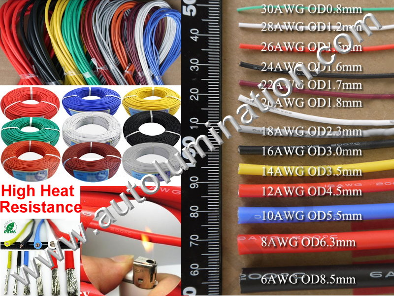 Silicone Wire Sizes and Gauges