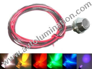Snake Light Led 10mm Chrome Bezel