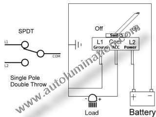 Single Pole Dual Throw Switch Wiring Diagram