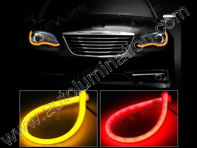LED Strip Switchback Red Amber Turn Signal Daylight