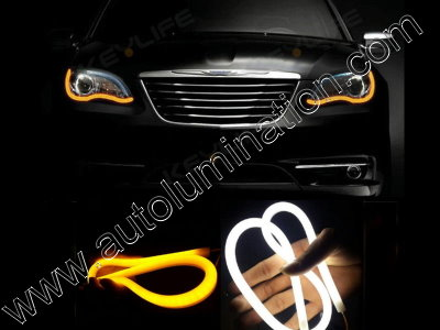 LED Strip Switchback White Amber Turn Signal Daylight
