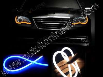 LED Strip Switchback White Blue Turn Signal Daylight