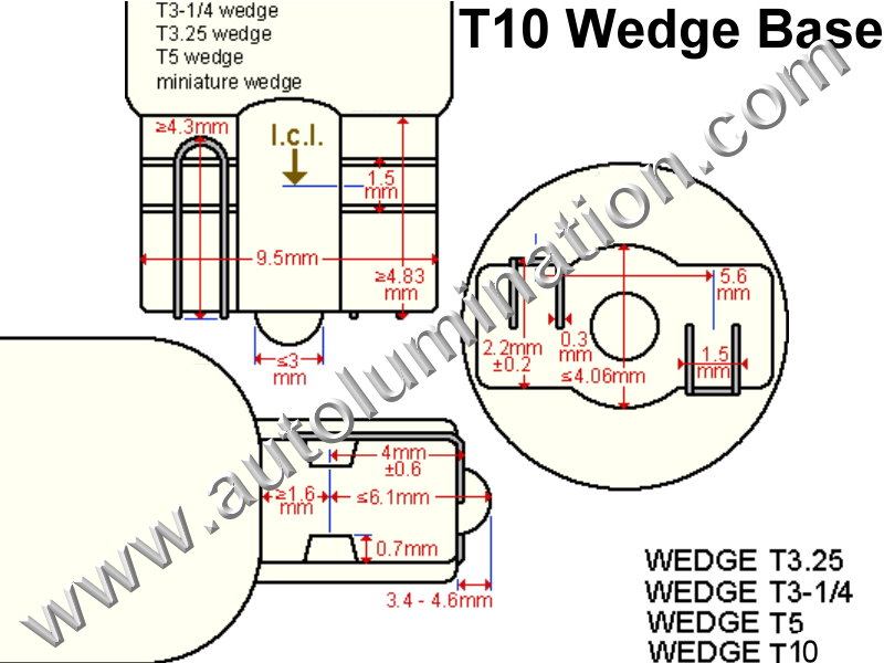 T10-Wedge Wedge Base