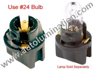 24 T6.5 T-1/2 Bulb Twist Lock Socket Base Holder Wedge (W2.1x4.9d)
