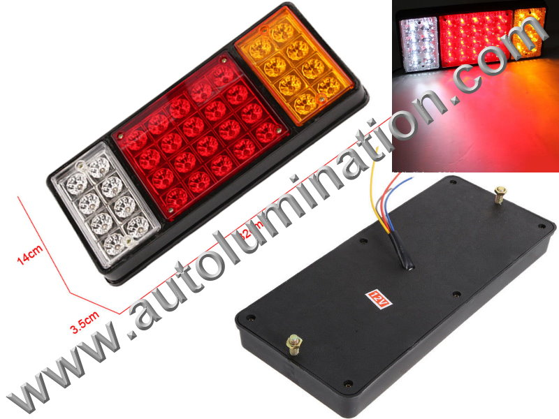 Truck Trailer RV 36led Combination Tail Light Brake Turn Signal Bracket Mount Led Light Assembly