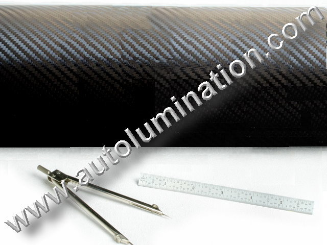 Vinyl 3D 3m Graphite Carbon Fiber Film Matt Black Roll