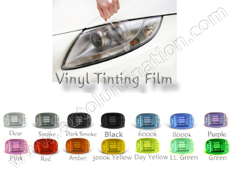 80bf3d652ff Vinyl Protective Self-Adhesive Film for Tinting Headlights