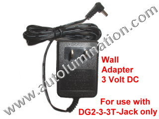120vac to 3 Volt Wall Adapter
